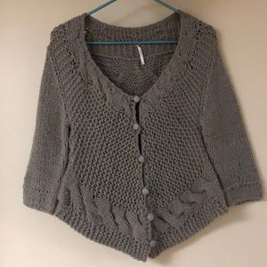 Free People Asymmetric Sweater Cardigan